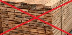 Világszinten nincs fa az építőiparban